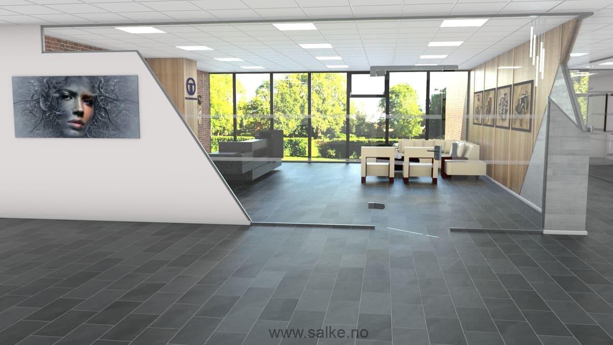 Glassvegger kontor