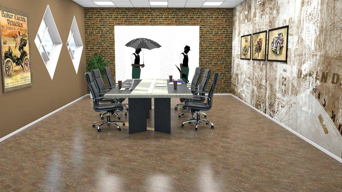 Linoleumsgulv i kontor