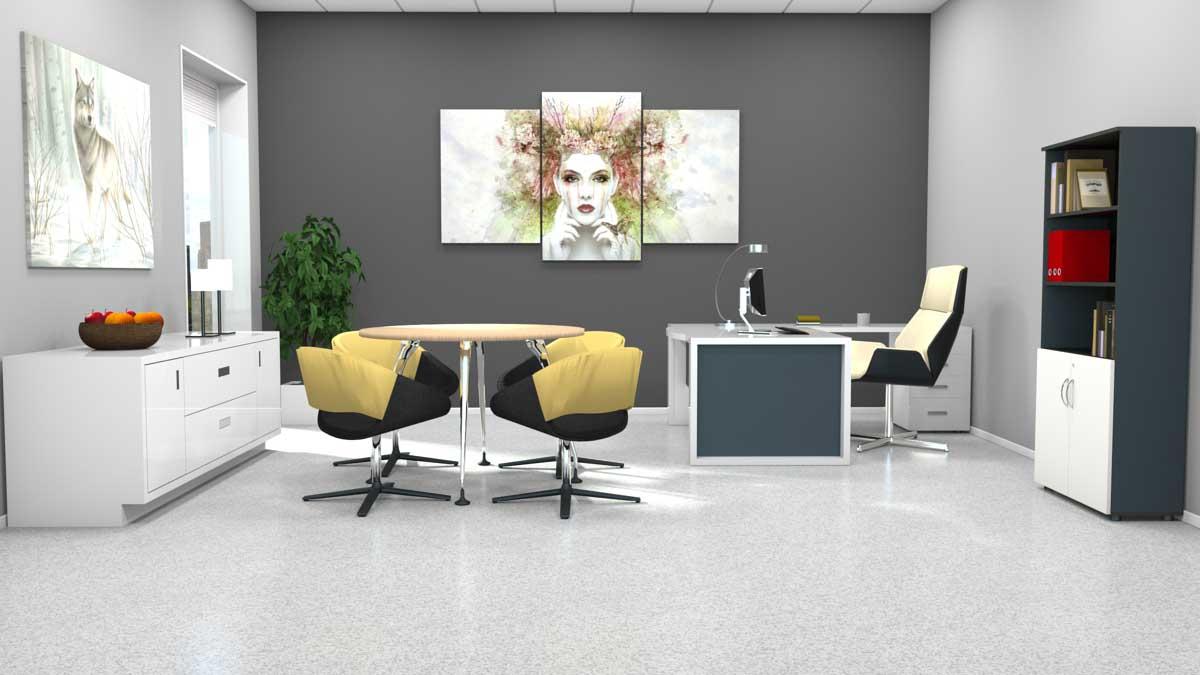 Linoleum i kontor